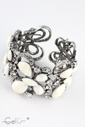 beautyfull braclet with rhinestones motive butterfly, nickel tested